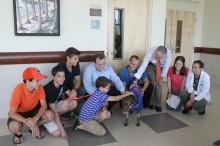 The Schmitt family with Cali