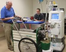 Zebu receives hemodialysis